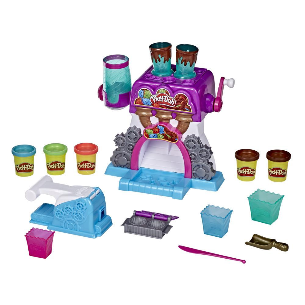 Play-Doh Kitchen Creations, La chocolaterie avec 5 couleurs de pâte Play-Doh atoxique