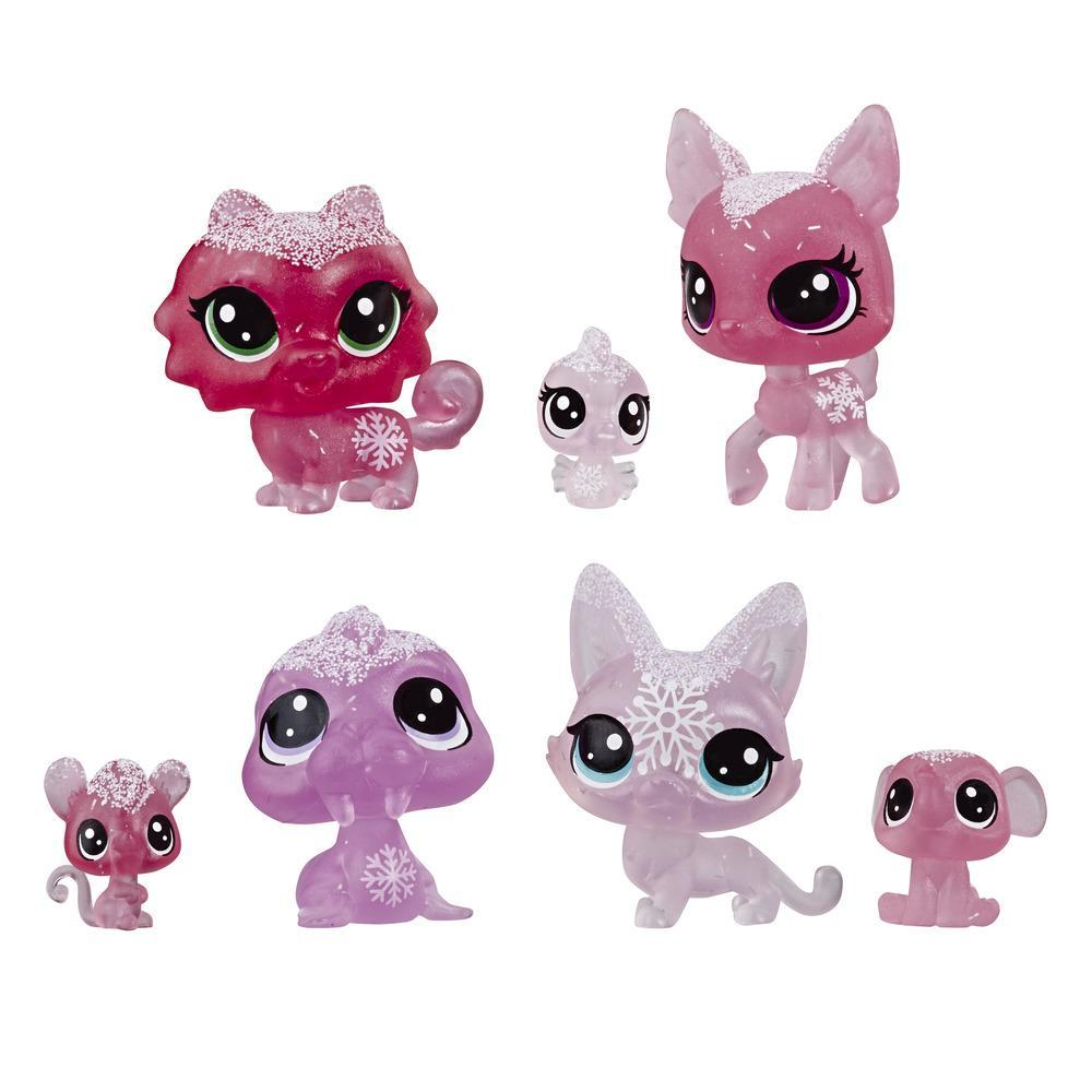 Littlest Pet Shop, animaux de la collection Paysage hivernal, thème rose
