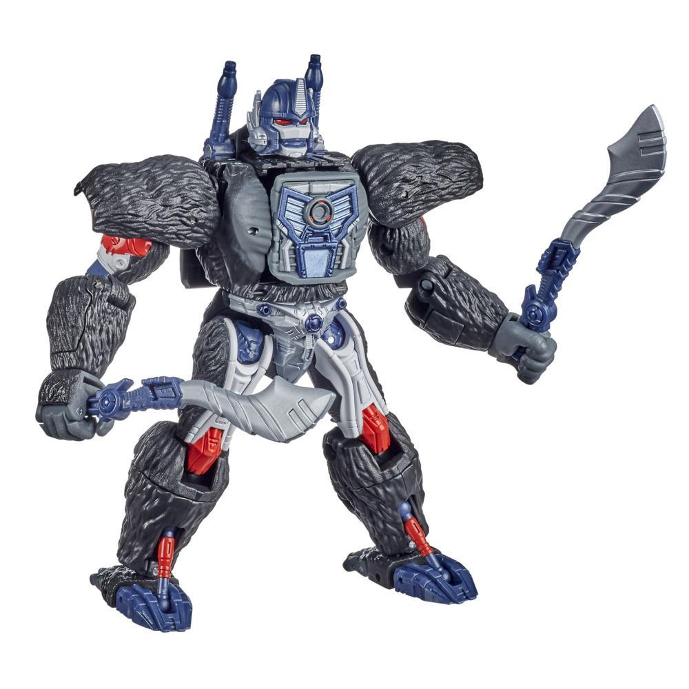 Transformers Generations War for Cybertron: Kingdom - WFC-K8 Optimus Primal classe Voyageur