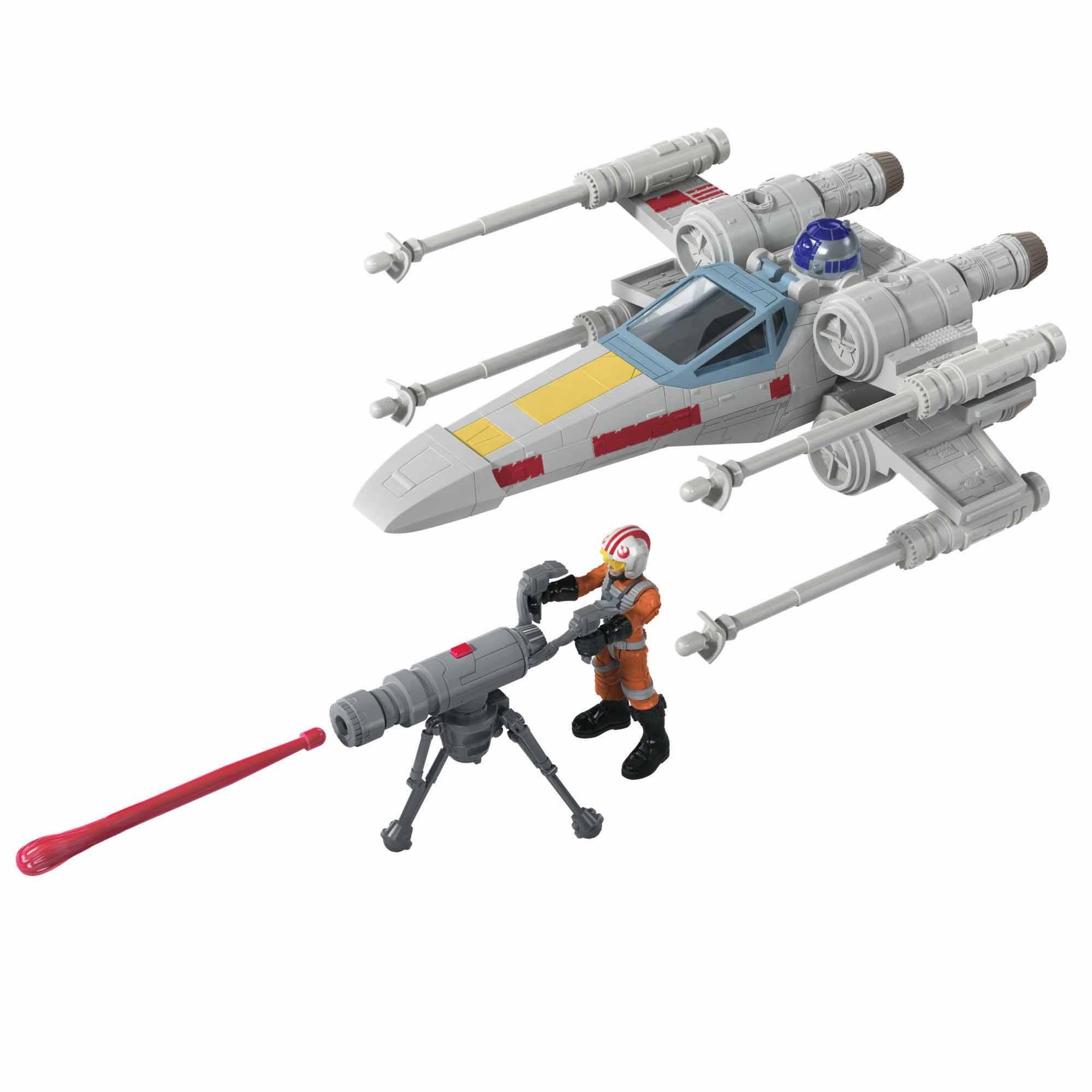 Star Wars Mission Fleet, Luke Skywalker et chasseur X-wing, figurine de 6 cm avec véhicule, dès 4 ans