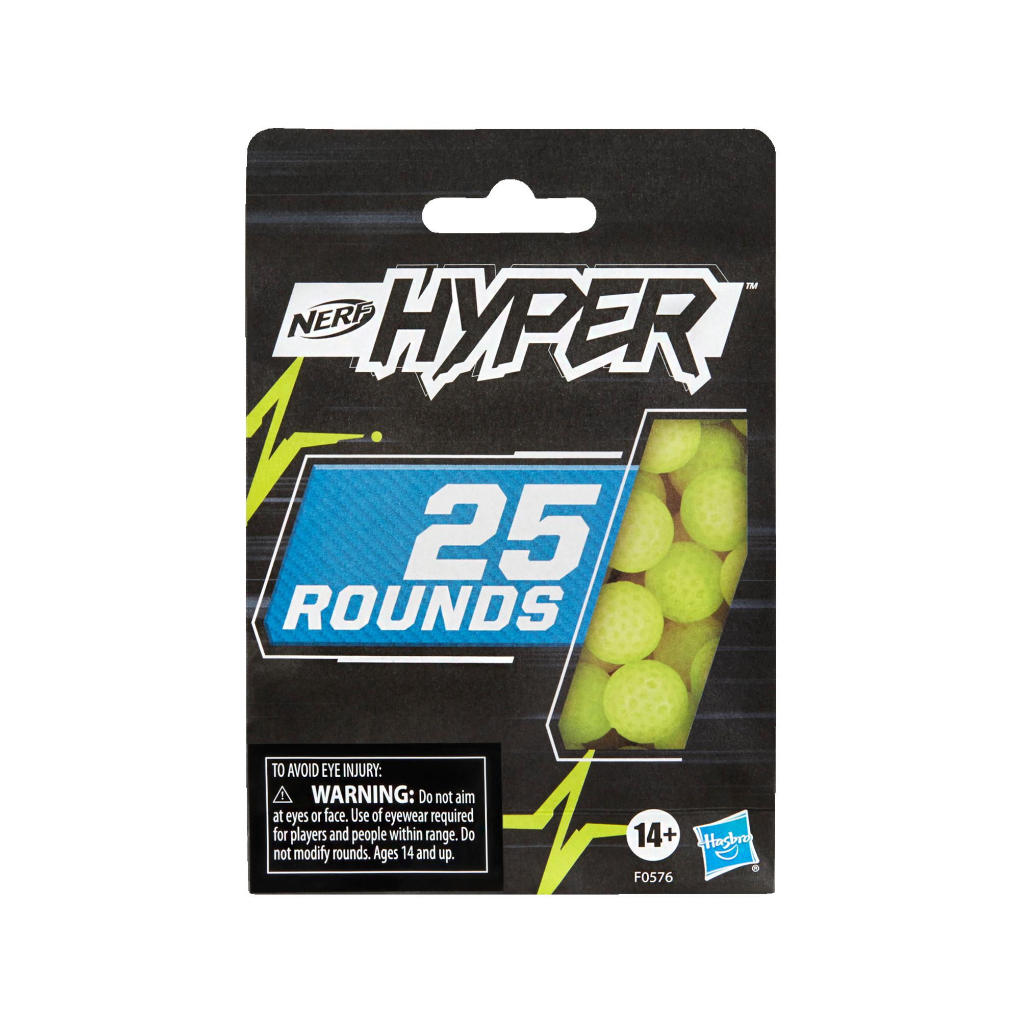 Nerf Hyper, recharge de 25 billes en mousse Nerf Hyper officielles pour utiliser avec les blasters Nerf Hyper
