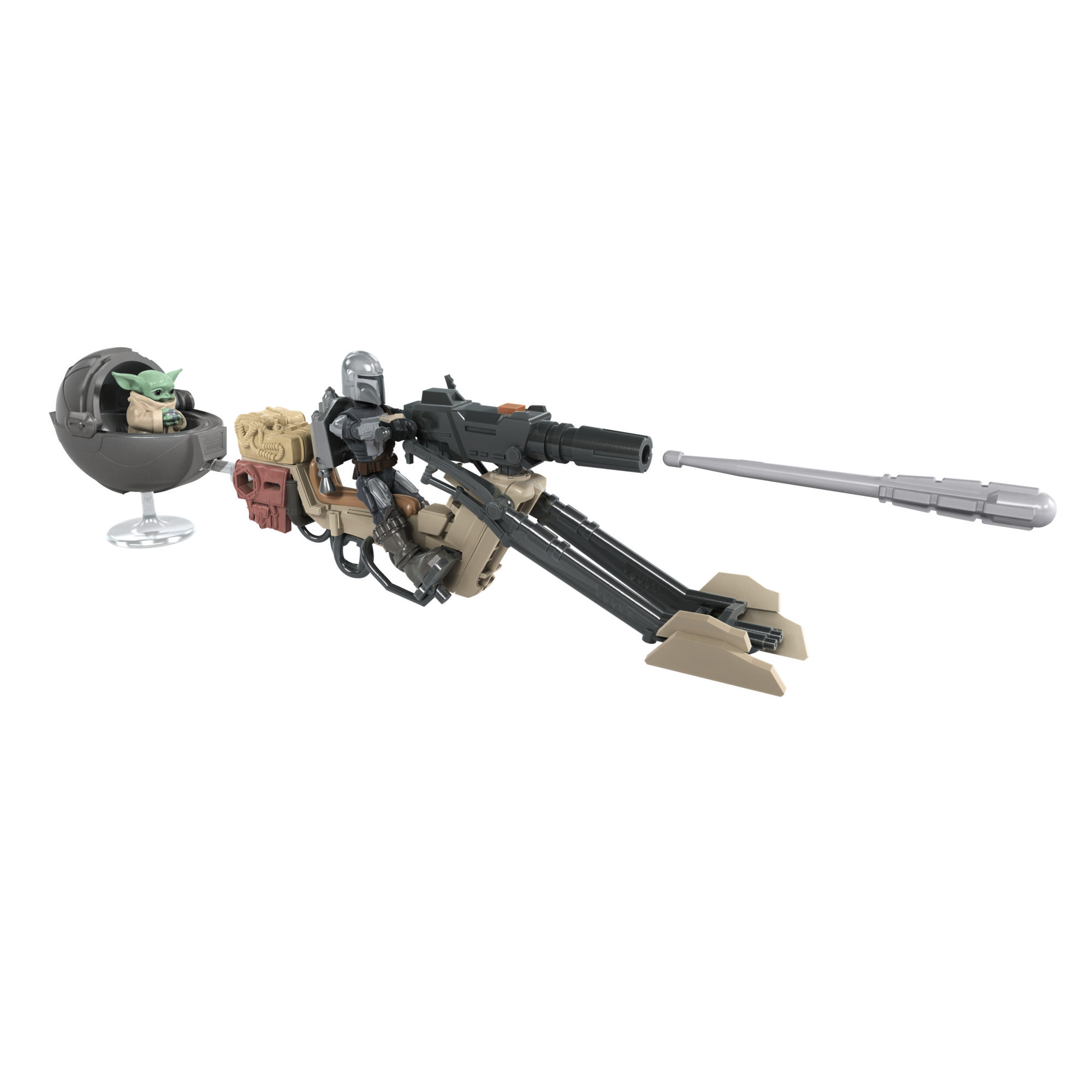 Star Wars Mission Fleet The Mandalorian The Child Battle for the Bounty, figurine et véhicule