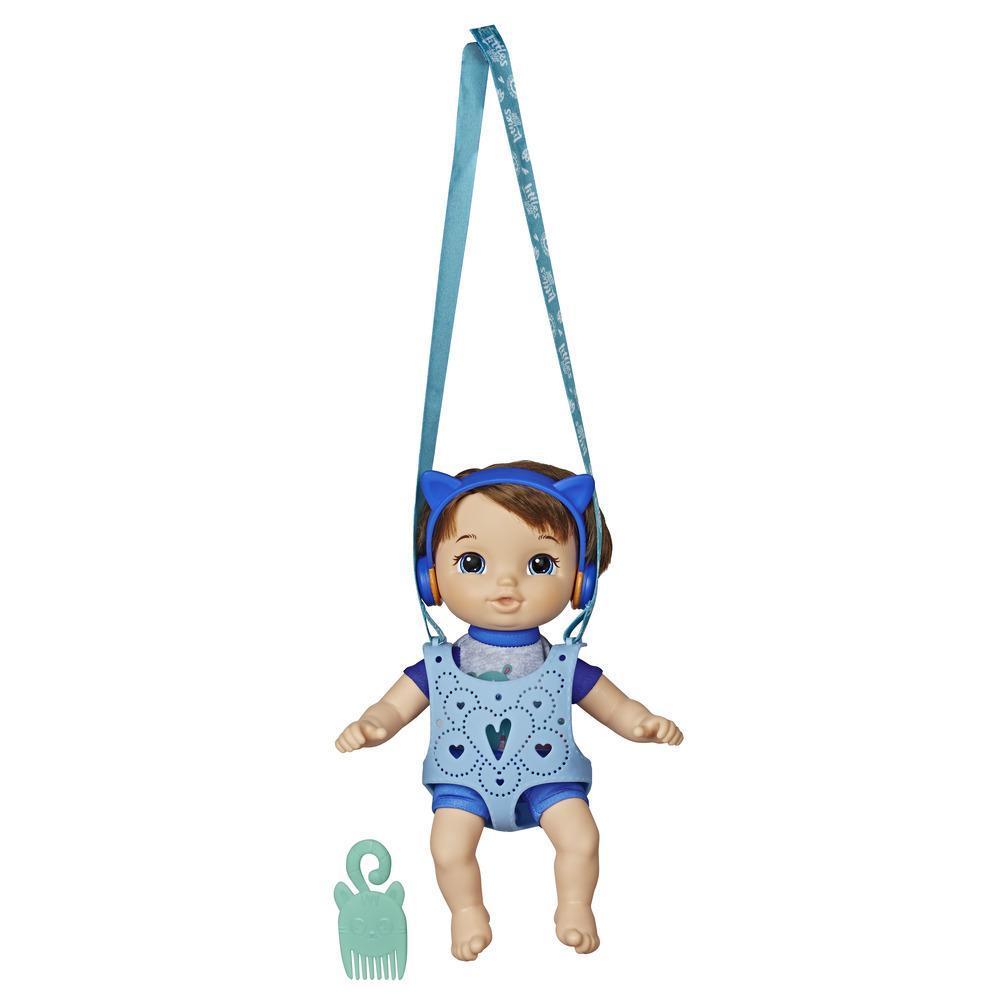 Little de Baby Alive, Poupon et son porte-bébé, Petit Matteo, poupée garçon aux cheveux bruns, porte-poupée, jouet pour enfants, à partir de 3ans
