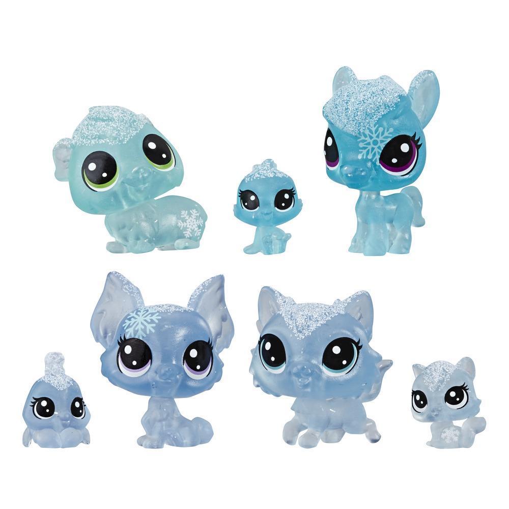 Littlest Pet Shop, animaux de la collection Paysage hivernal, thème bleu