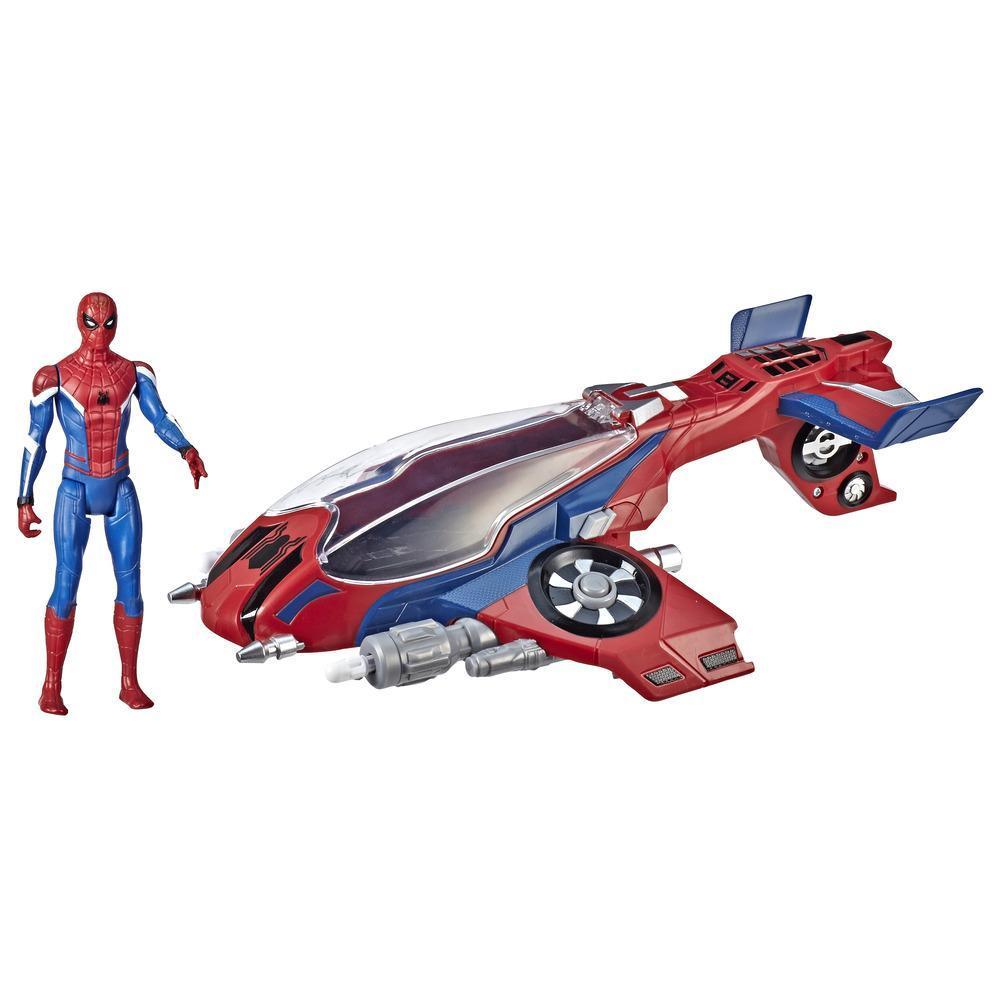 Jet de Spiderman et figurine 15 cm