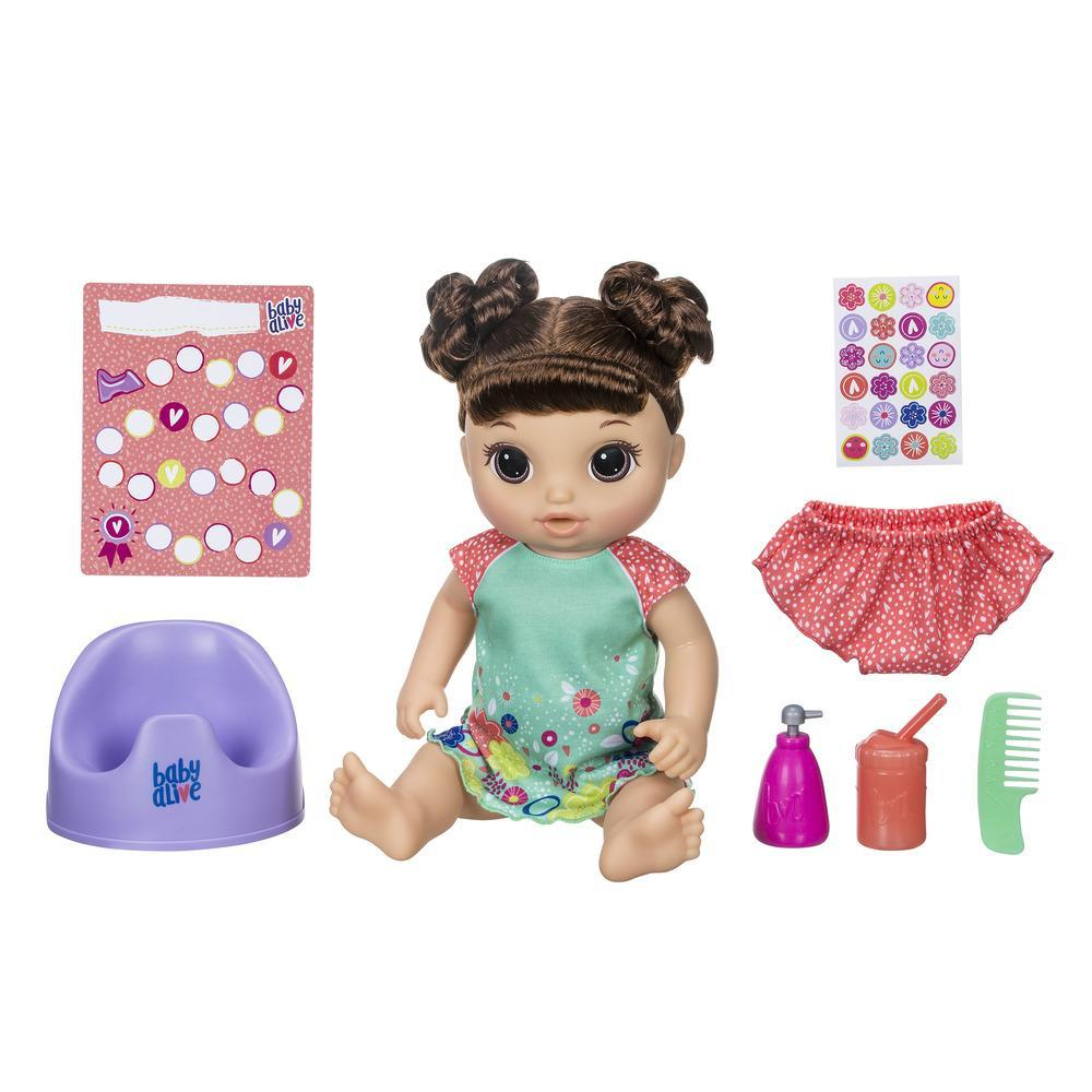 BABY ALIVE VA SUR LE POT -brunette-