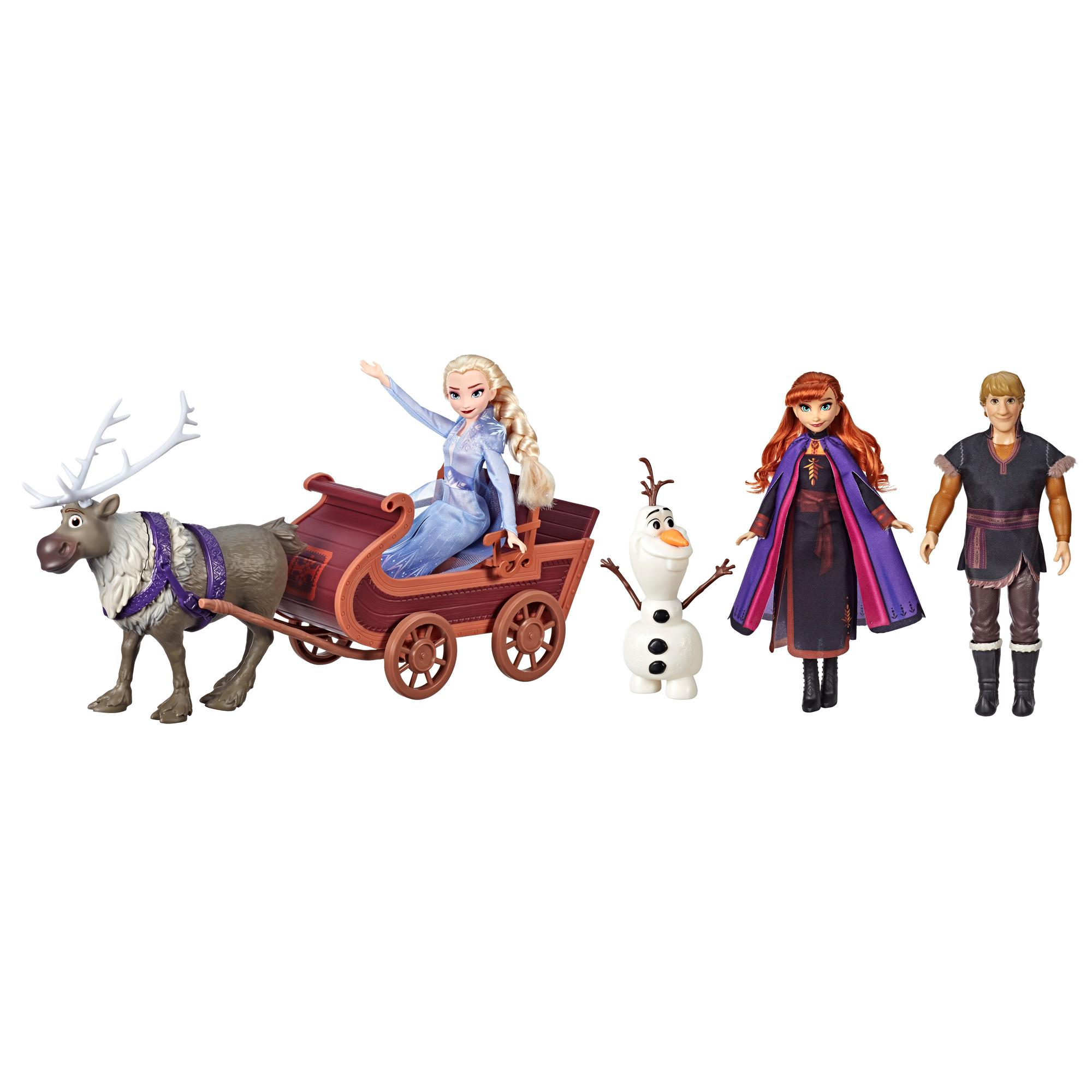 Pack Anna, Elsa, Kristoff, Olaf, Sven et son traineau