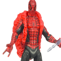 SPIDER-MAN -  Red Black Spidey w/ light up eyes and shield
