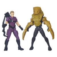 PACK DE 2 FIGURINES 7 CM CIVIL WAR : HAWKEYE VS BLACK PANTHER