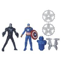 PACK DE 2 FIGURINES 7 CM CIVIL WAR : CAPTAIN AMERICA VS CROSSBONES