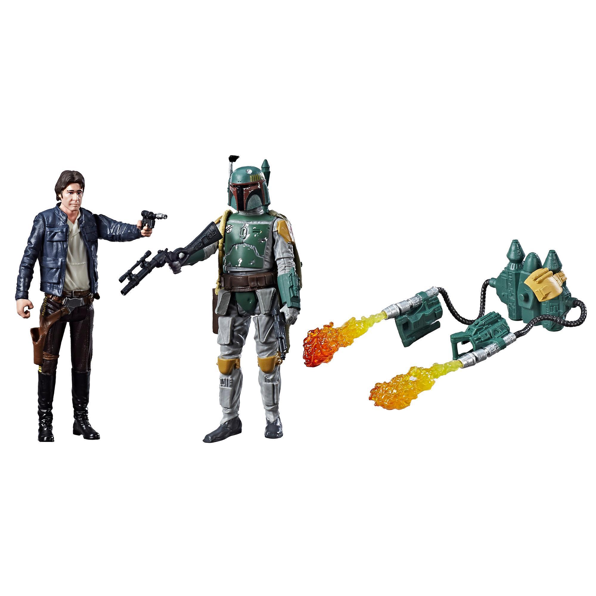 STAR-WARS EPIZÓD 8 Force Han Solo & Boba Fett Figura 2-es CSOMAG