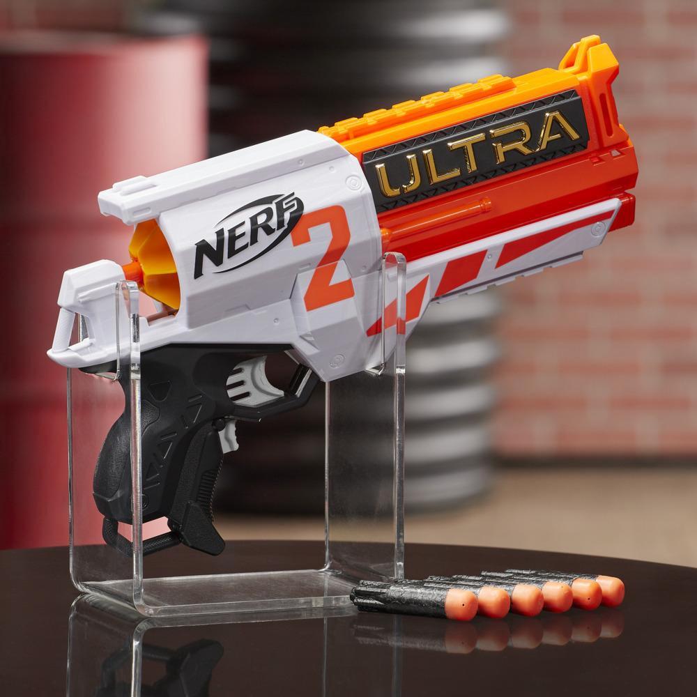 Nerf Ultra Two motoros kilövő – Gyors hátsó újratöltés, 6 Nerf Ultra lövedék – Csak a Nerf Ultra lövedékekkel kompatibilis