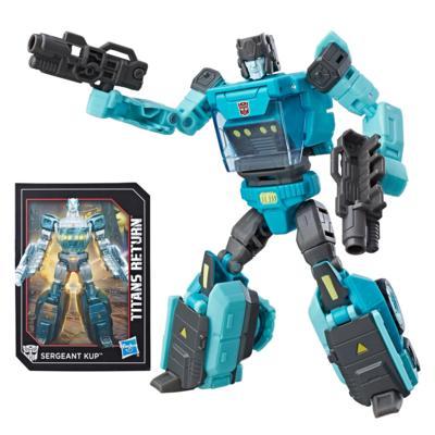 Transformers Generations Visszatérő Titánok Sergeant Kup & Flintlock