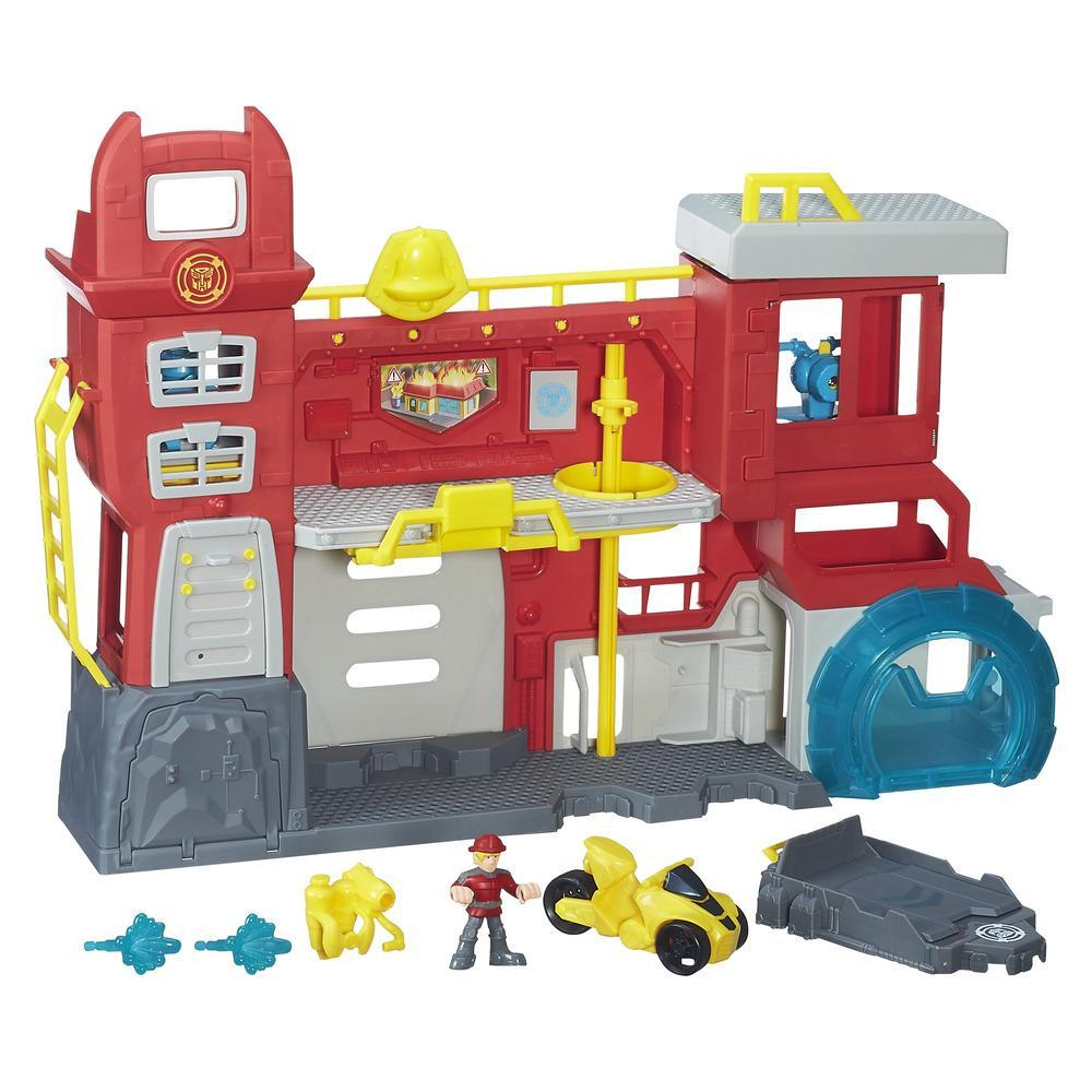 Transformers Rescue Bots - Griffin Rock Firehouse Headquarters (Playskool Heroes)