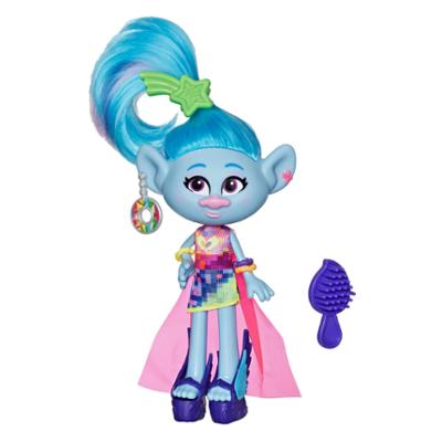DreamWorks Trolls World - Ciniglia Glamour - Bambola con vestito e altri accessori, ispirata al film Trolls World Tour, giocattolo per bambine