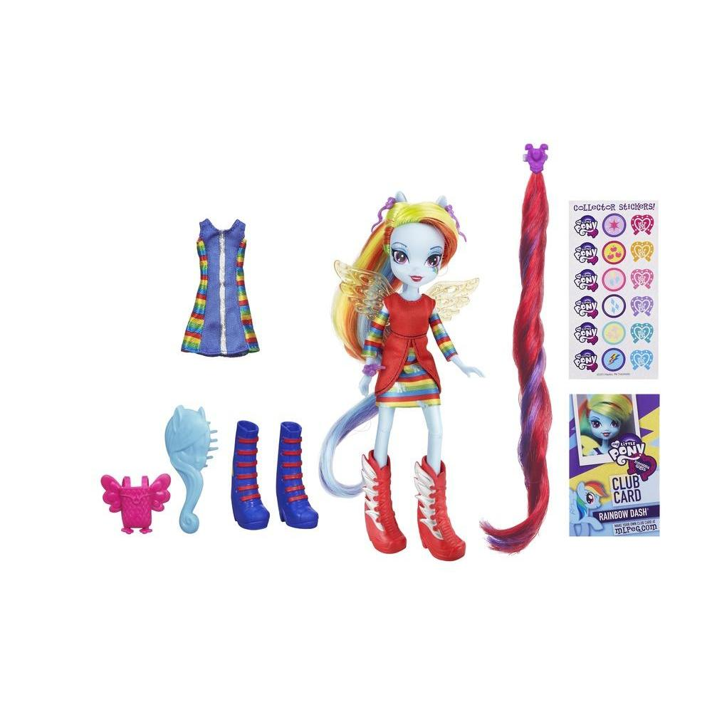 Equestria Girls Rainbow Dash Bambola con accessori