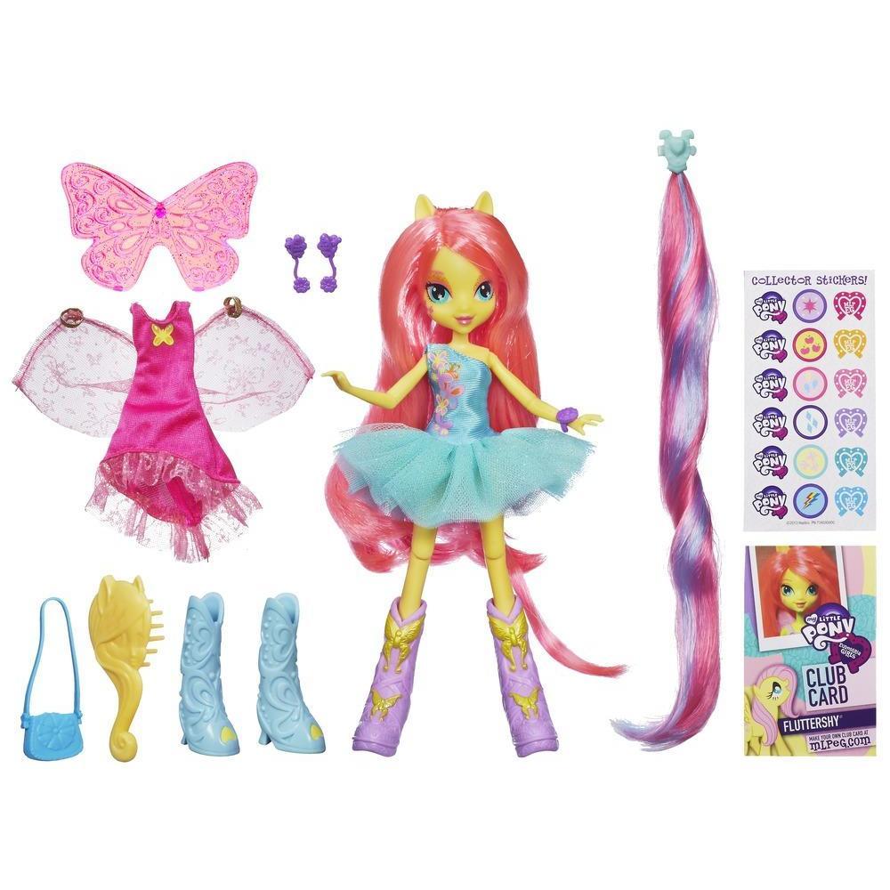 Equestria Girls Fluttershy Bambola con accessori