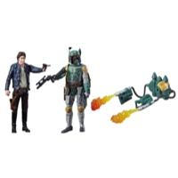 Confezione da due personaggi Star Wars Han Solo e Boba Fett