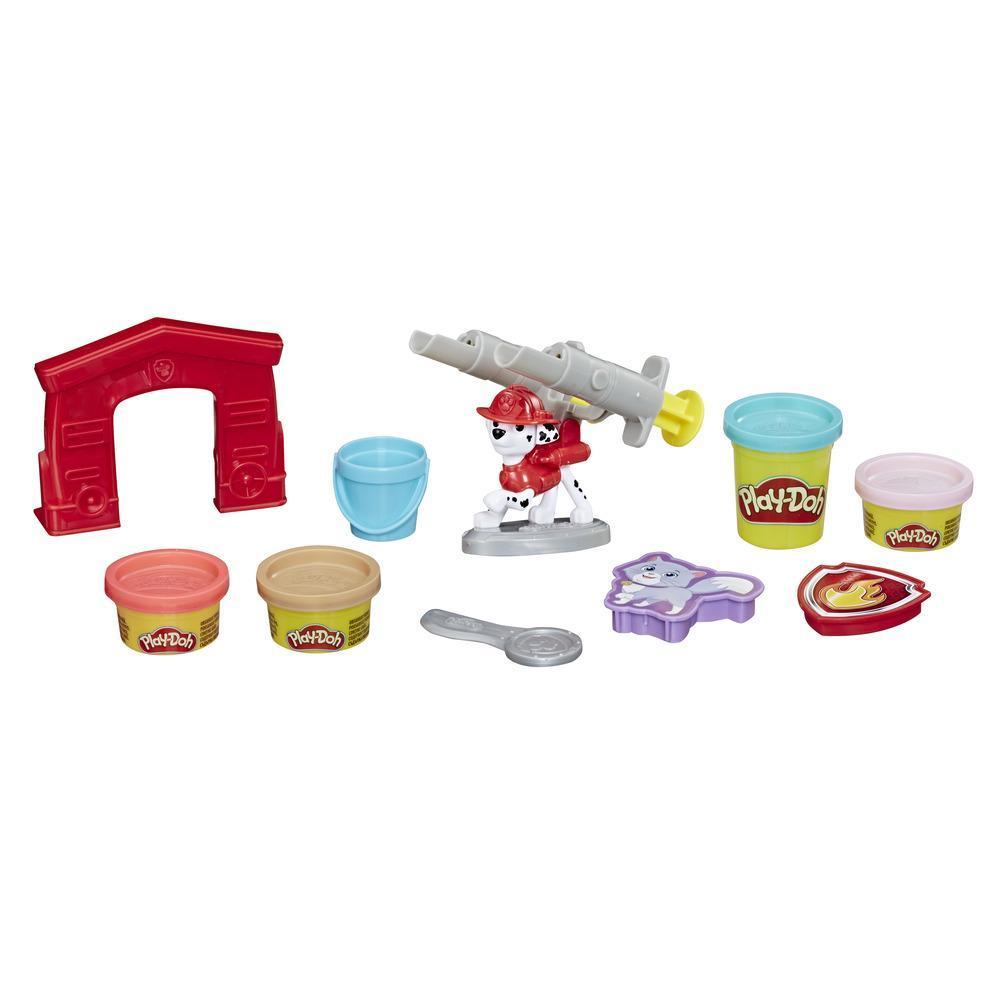 Play-Doh - PAW Patrol Marshall il pompiere (Personaggio e set di strumenti con 4 colori di pasta da modellare)