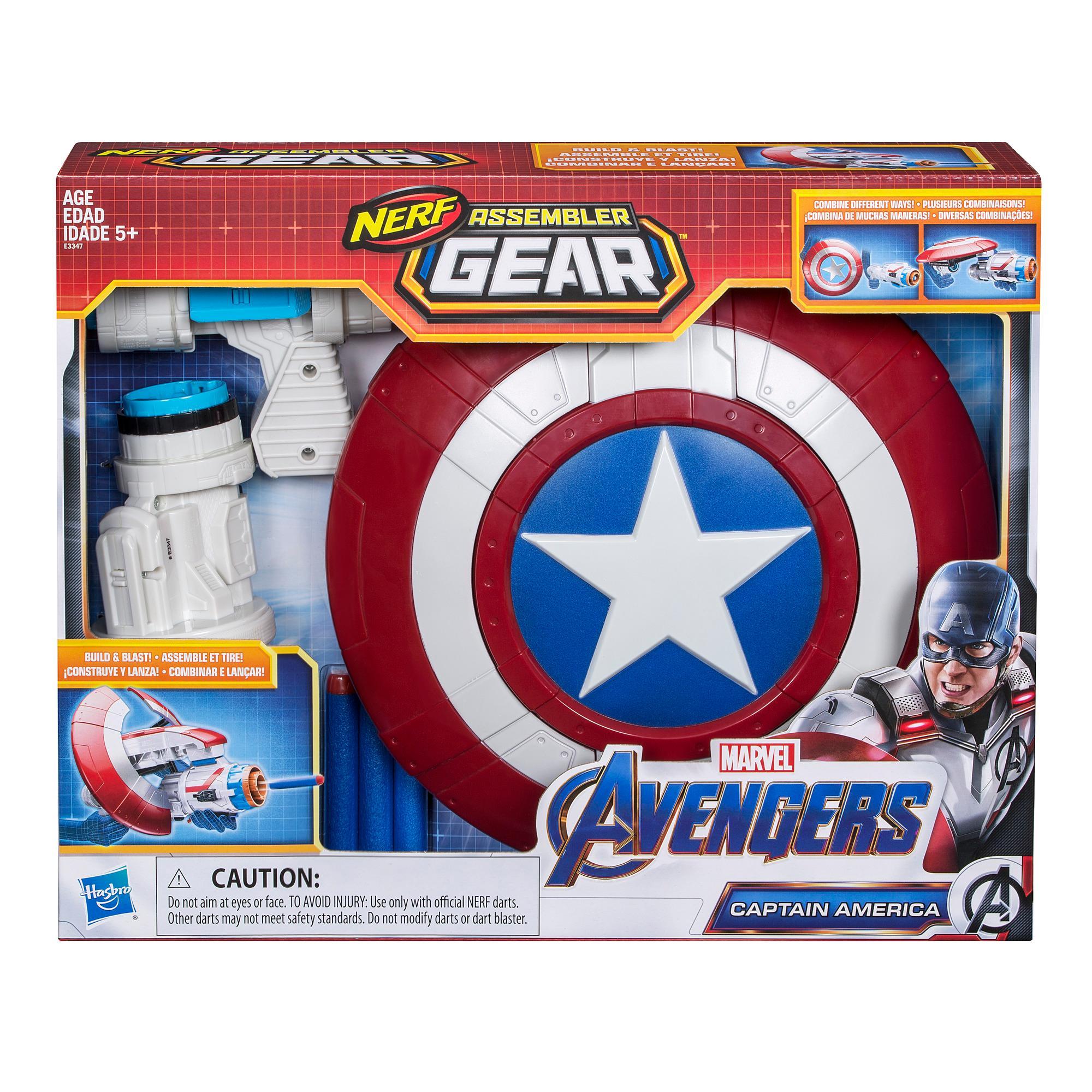 Marvel Avengers: Endgame: Assemble Gear Captain America (blaster con dardi)
