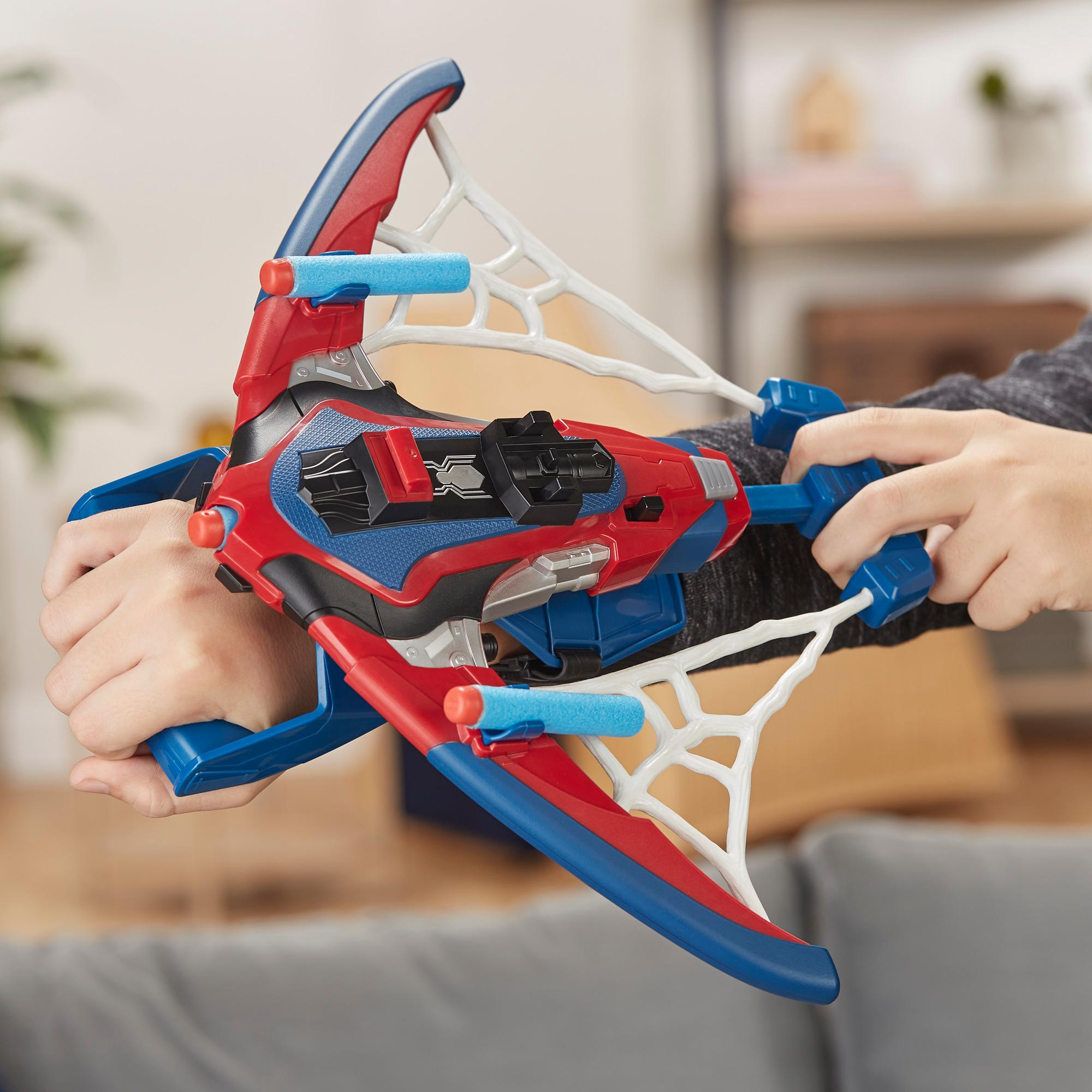Spider-Man: Far From Home - Web Shots Spiderbolt (Blaster Nerf con dardi)