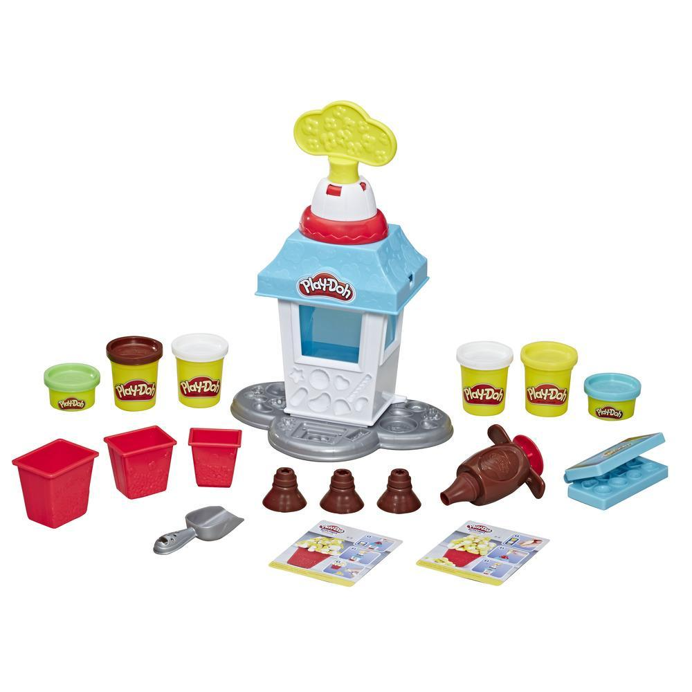 Play-Doh - Kitchen Creations, Popcorn Party Set (playset con 6 vasetti di pasta da modellare)