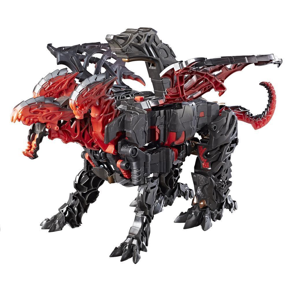 Turbo Changer Dragonstorm da una mega-mossa dal film Transformers: l'Ultimo Cavaliere.