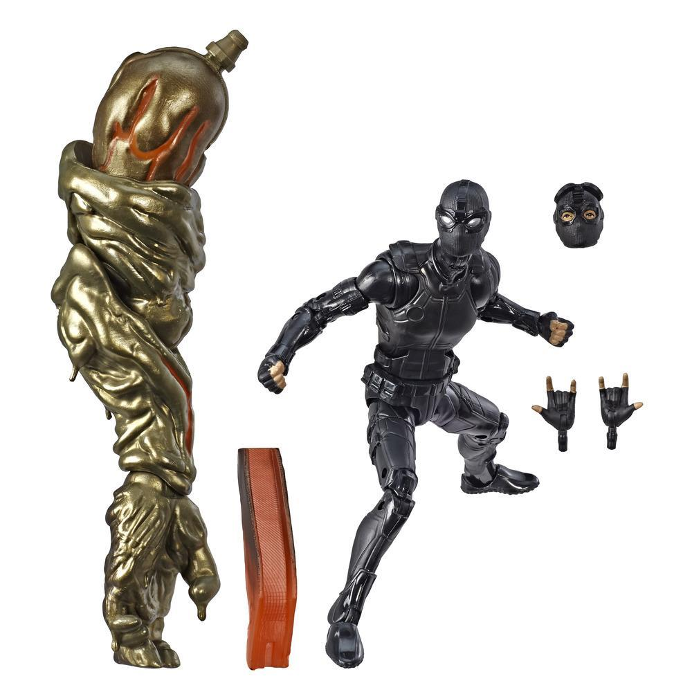 Marvel Legends - Spider-Man Stealth Suit (Action Figure da collezione 15cm, ispirata a Spider-Man: Far From Home - Build-A-Figure Molten Man)