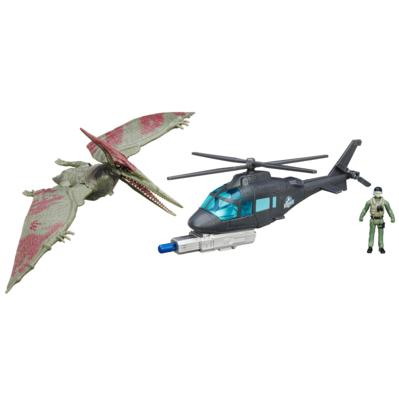 Jurassic World Pteranodon vs. Helicopter