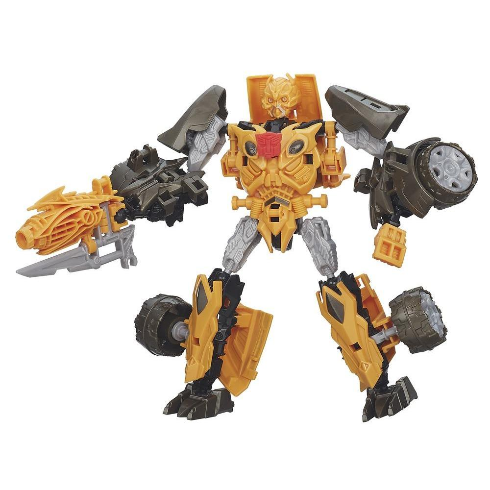 Personaggi di azione montabili Construct-Bots Dinobot Warriors Bumblebee e Nosedive Dino dal film Transformers - L'era dell'estinzione