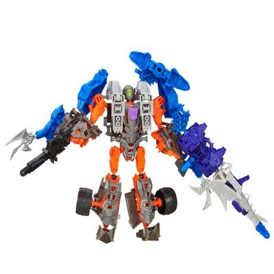Personaggi di azione montabili Construct-Bots Dinobot Warriors Lockdown e Hangnail Dino dal film Transformers - L'era dell'estinzione
