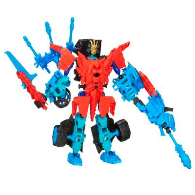 Personaggi di azione montabili Construct-Bots Dinobot Warriors Autobot Drift e Roughneck Dino dal film Transformers - L'era dell'estinzione