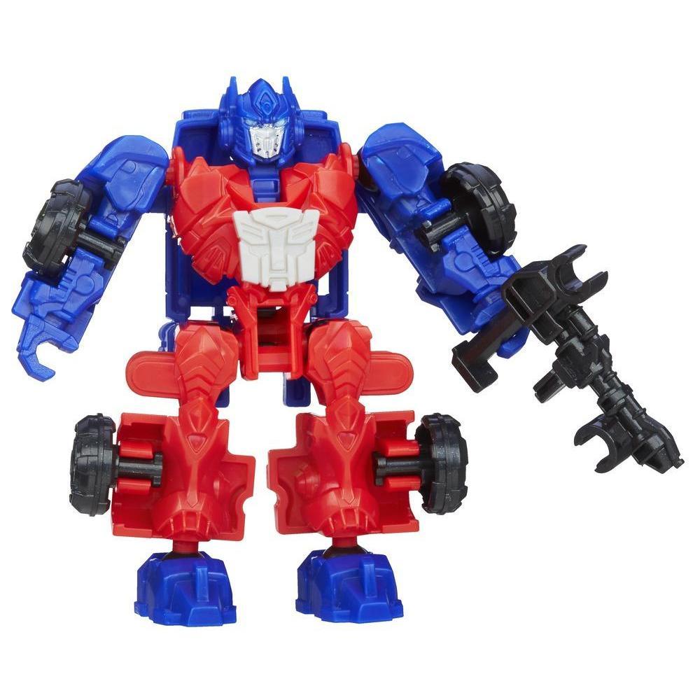 Personaggio di azione montabile Optimus Prime serie Construct-Bots Dinobot Riders dal film Transformers - L'era dell'estinzione