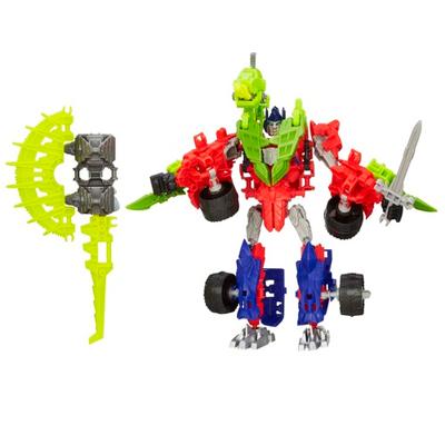 Personaggi di azione montabili Construct-Bots Dinobot Warriors Optimus Prime e Gnaw Dino dal film Transformers - L'era dell'estinzione