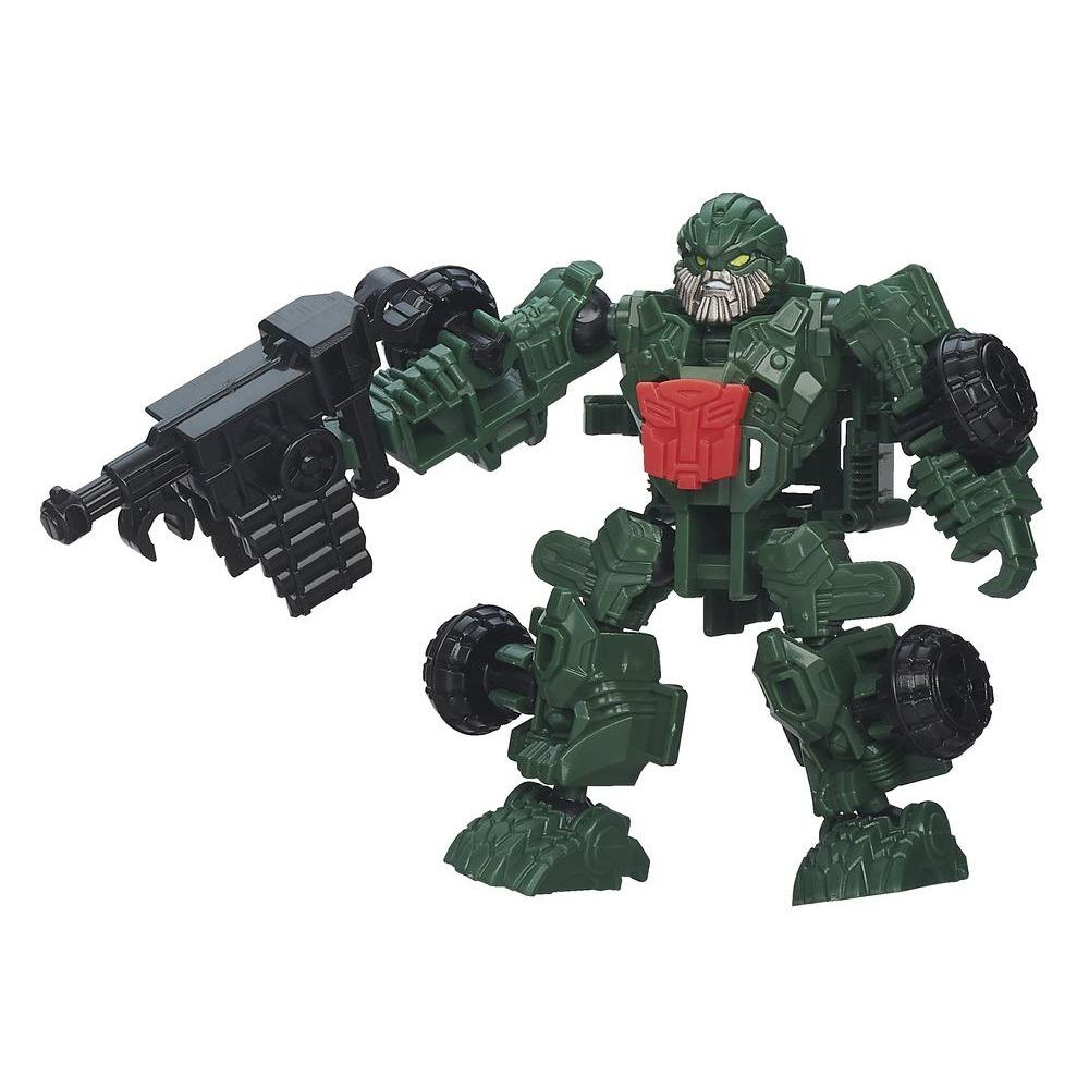 Personaggio di azione montabile Autobot Hound serie Construct-Bots Dinobot Riders dal film Transformers - L'era dell'estinzione