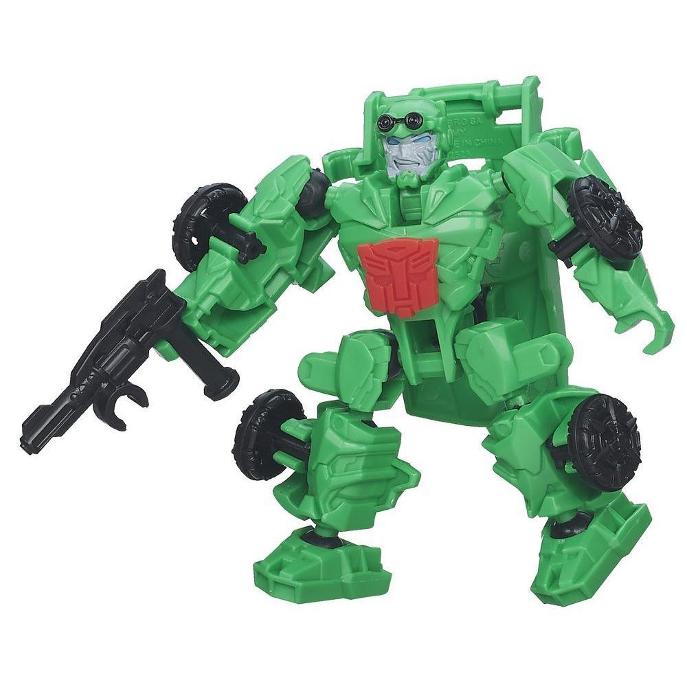 Personaggio di azione montabile Crosshairs serie Construct-Bots Dinobot Riders dal film Transformers - L'era dell'estinzione