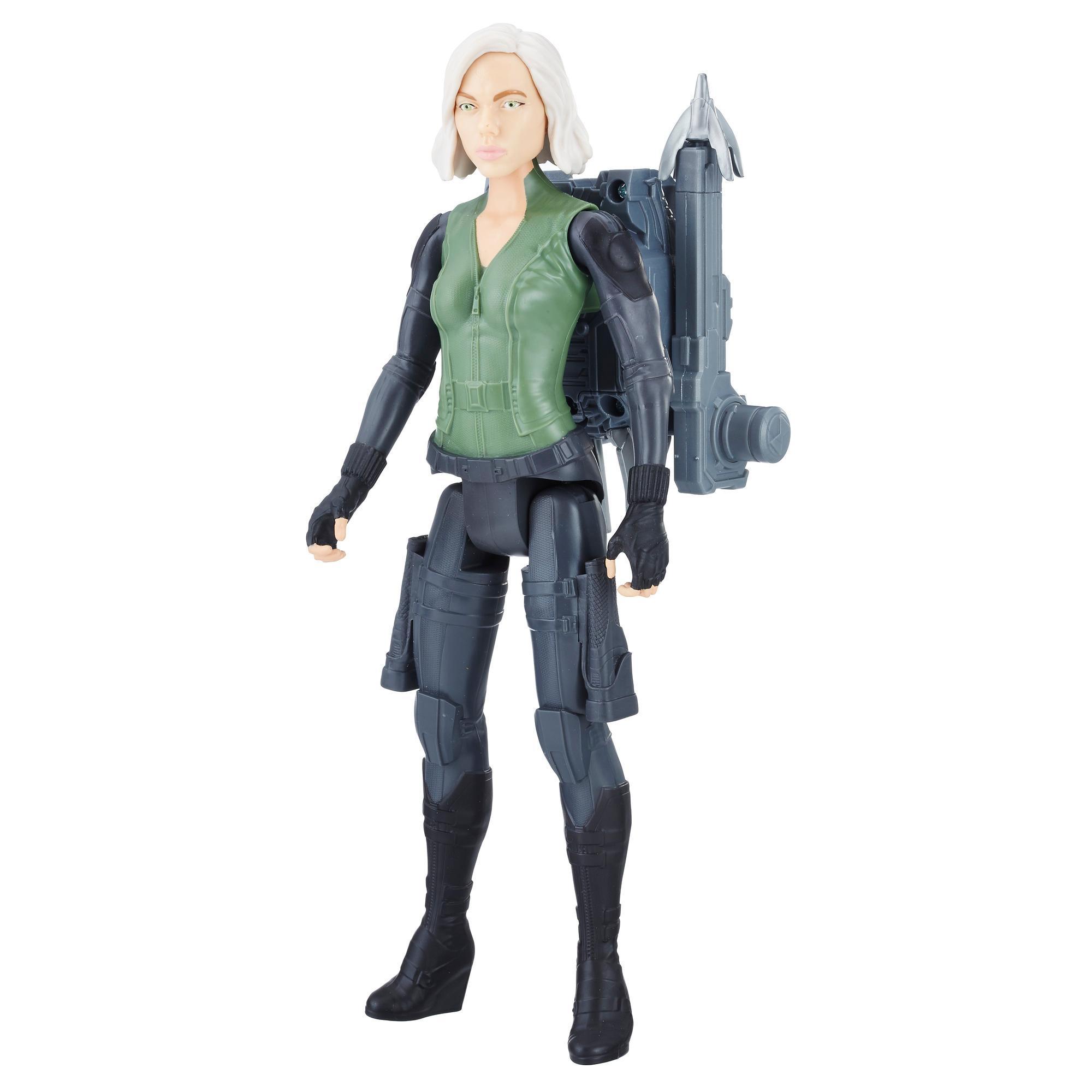 Avengers: Infinity War - Vedova Nera Black Widow Titan Hero Power FX (Personaggio 30cm, Action Figure)
