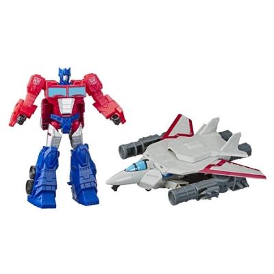 Transformers Cyberverse - Optimus Prime con Spark Armor - Si combina con il veicolo Sky Turbine Spark Armor per potenziarsi - Dai 6 anni in poi, 14,5-cm Product