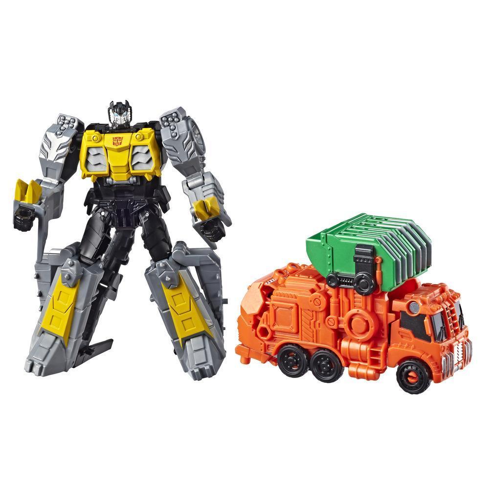 Transformers Cyberverse - Grimlock Spark Armor (si combina con il veicolo Chopper Cut Spark Armor per potenziarsi, dai 6 anni in poi, 14,5 cm)