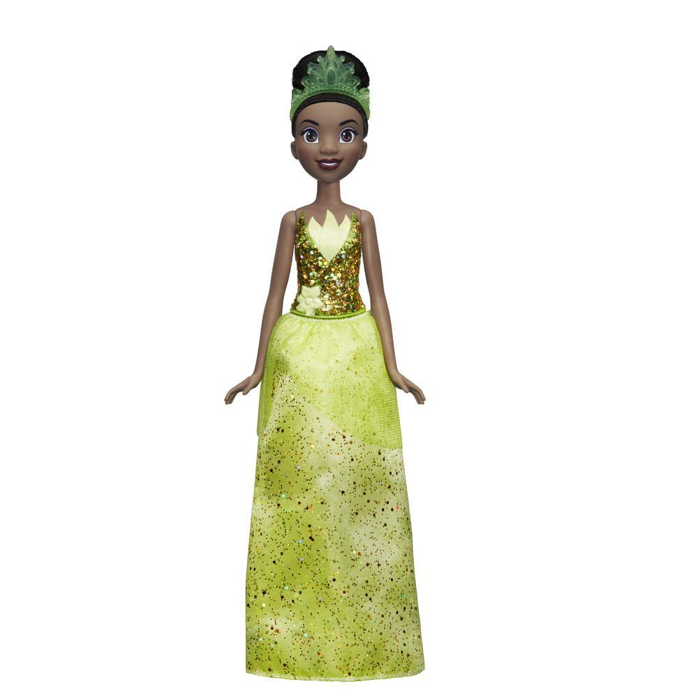 Disney Princess - Tiana (Fashion Doll) con gonna scintillante, diadema e scarpe