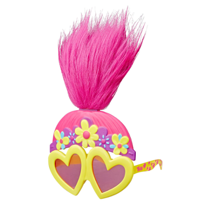 DreamWorks Trolls - Look per la discoteca di Poppy - Occhiali da sole divertenti ispirati al film Trolls World Tour - Da 4 anni in su