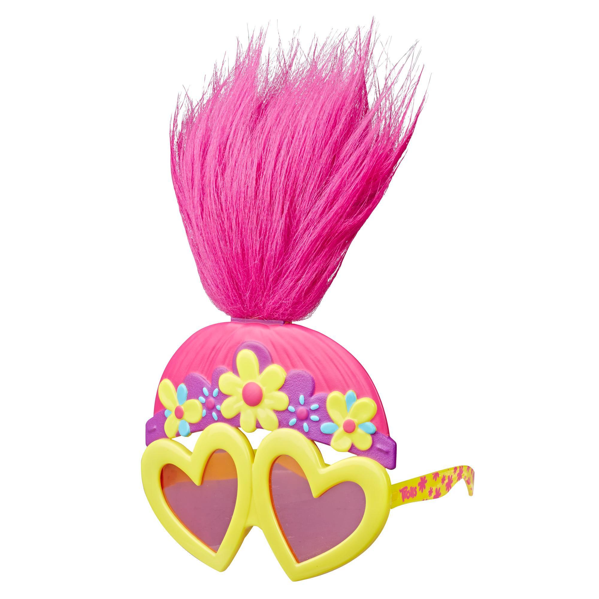 DreamWorks Trolls - Look per la discoteca di Poppy - Occhiali da sole divertenti ispirati al film Trolls World Tour - Da 4 anni in su