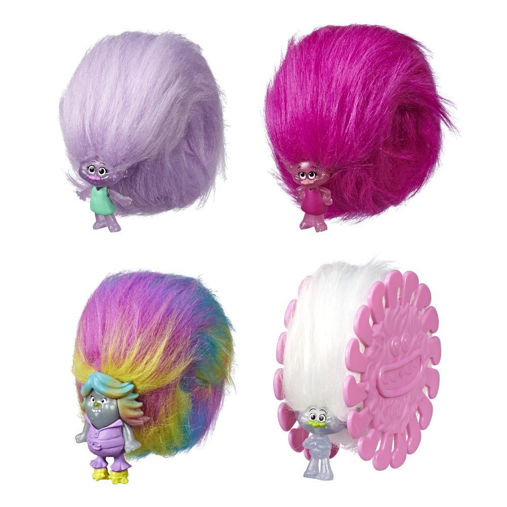 Trolls - Hair Huggers Glitter Pack (ispirato al film Dreamworks, pack da 4)