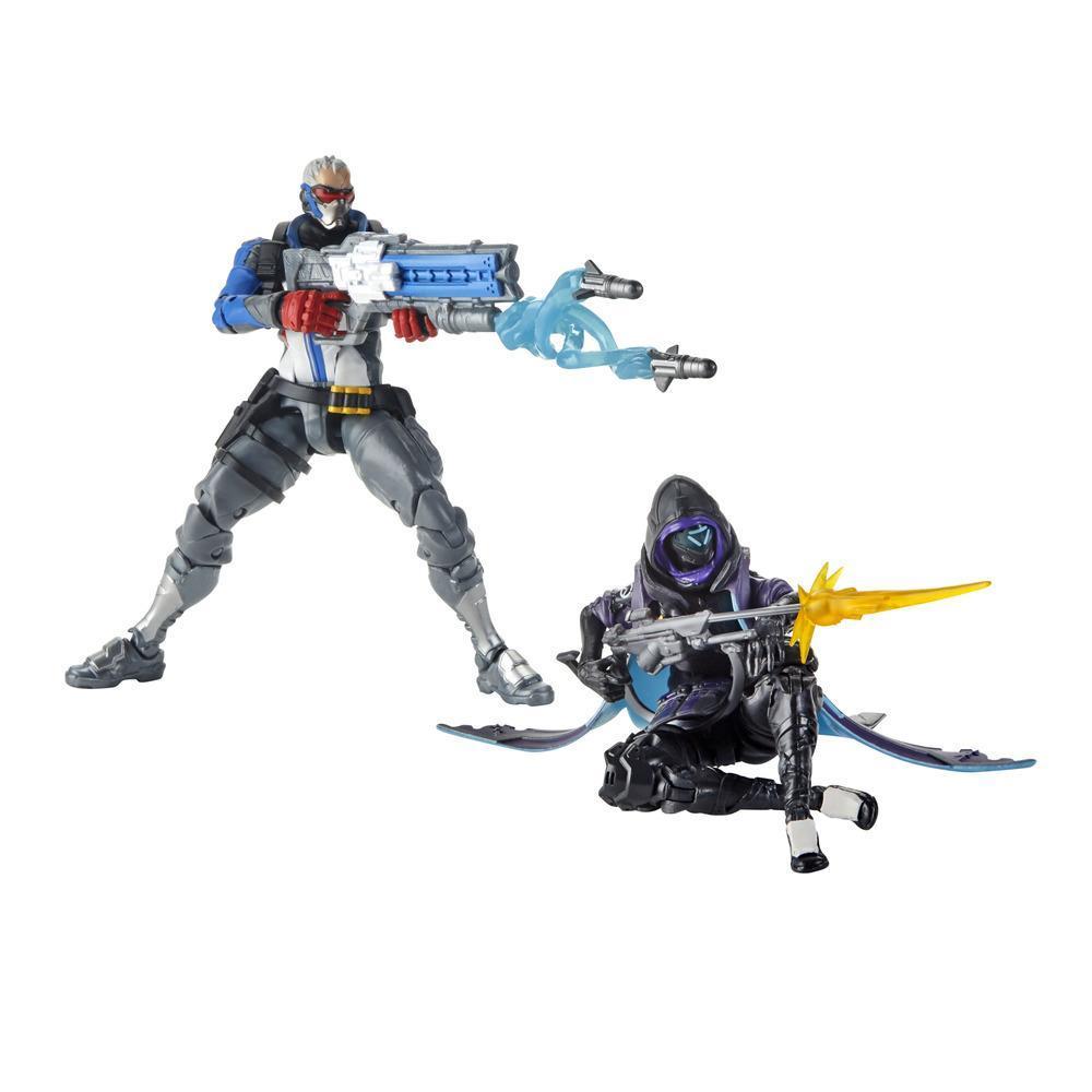 Overwatch Ultimates Series - Soldier: 76 e Shrike (Ana)  (Action Figure da collezione da 15 cm con accessori, doppia skin, ispirati al videogioco)