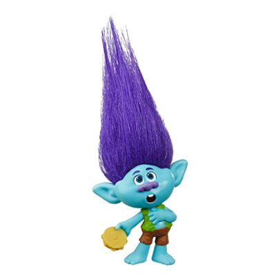 DreamWorks Trolls World Tour - Branch - Bambola con tamburo - Giocattolo ispirato al film Trolls World Tour