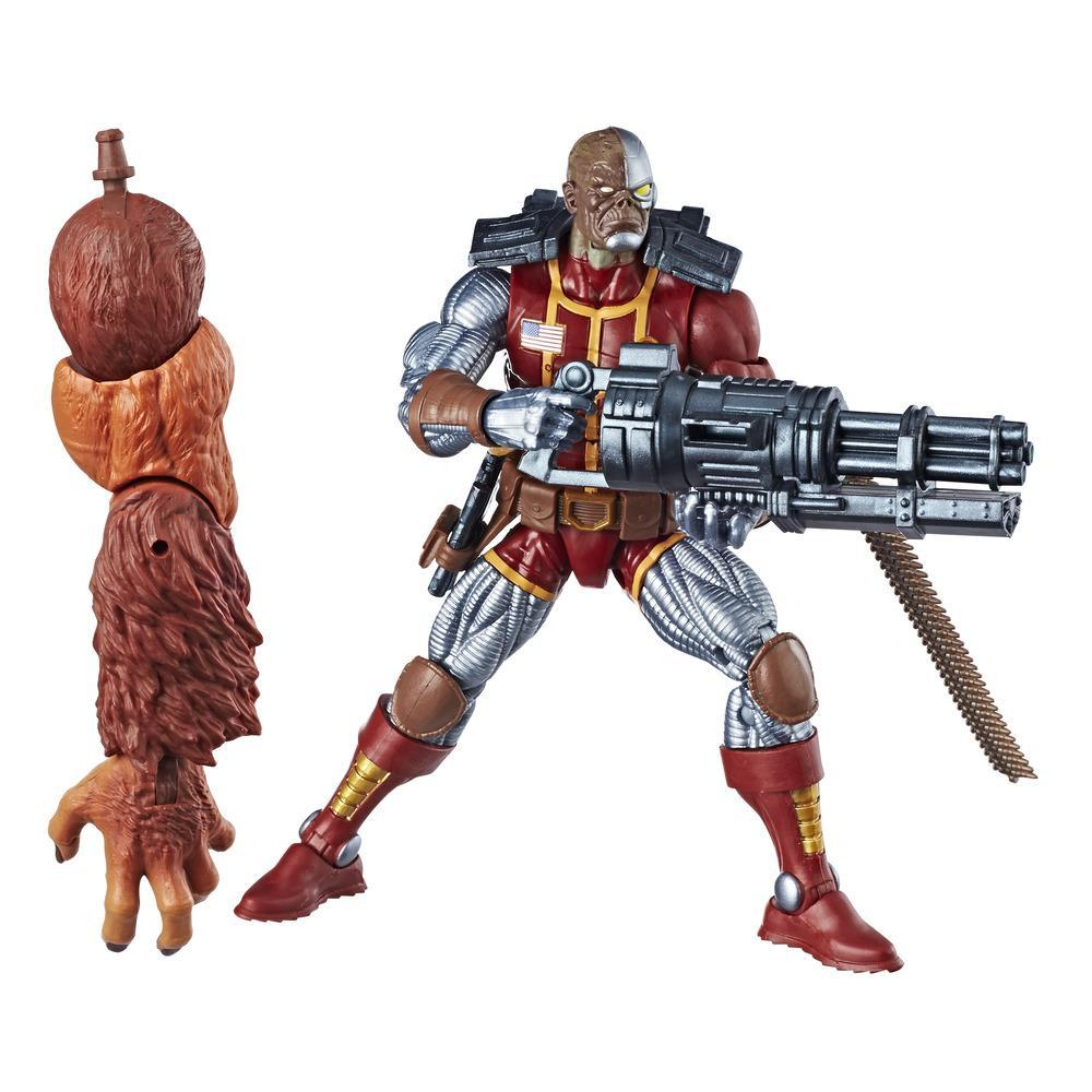 Marvel Legends - Deathlok (Build-A-Figure Marvel's Sasquatch Action Figure Collezione, 15 cm)