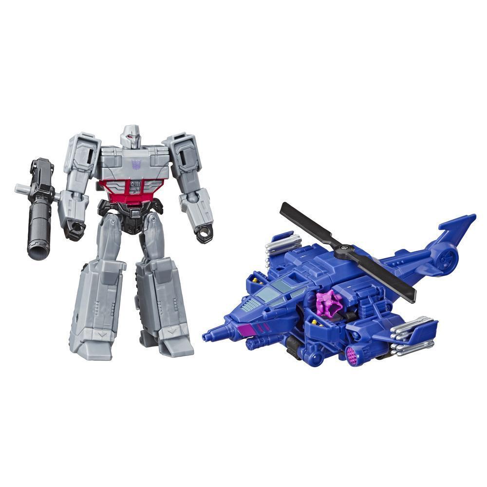 Transformers Cyberverse - Megatron Spark Armor - Si combina con il veicolo Chopper Cut Spark Armor per potenziarsi - Dai 6 anni in poi, 14,5 cm