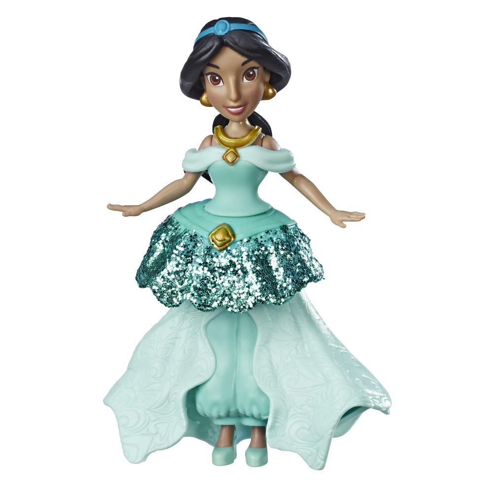 Disney Princess - Jasmine  bambola con sistema Royal Clips e gonna con una clip di chiusura