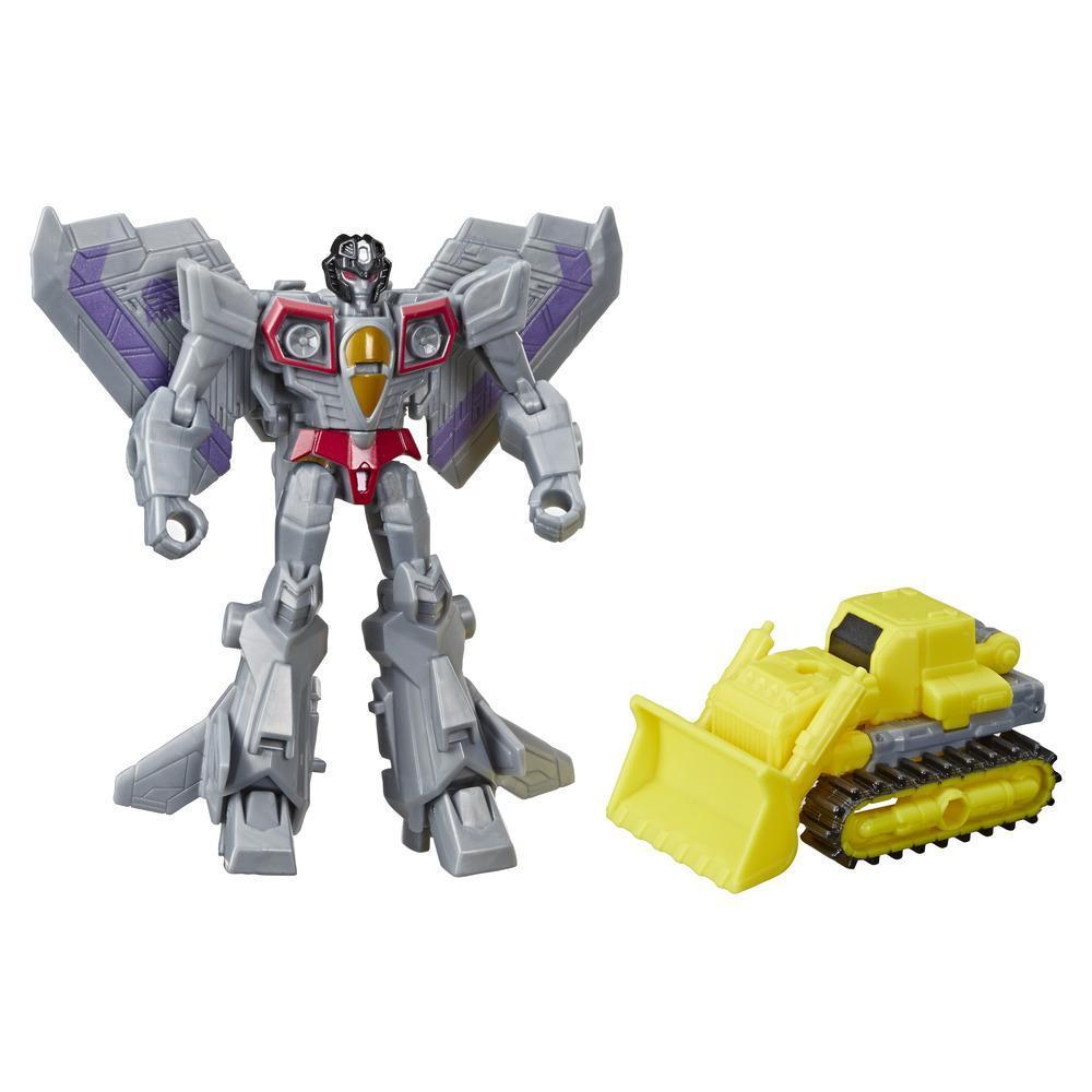 Transformers Cyberverse - Starscream Spark Armor - Si combina con il veicolo Spark Armor Demolition Destroyer per potenziarlo - Per i bambini dai 6 anni in su, 10 cm