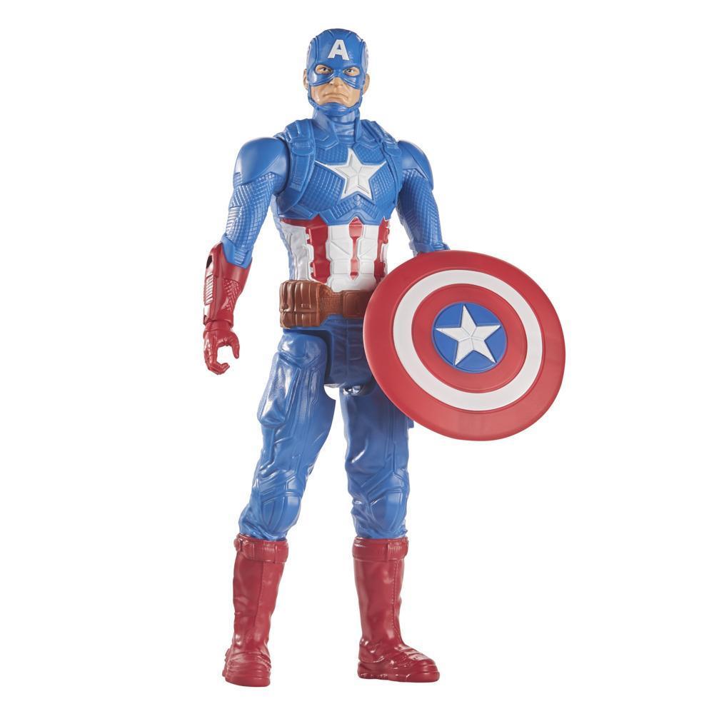 Avengers - Captain America (Action figure 30 cm con blaster Titan Hero Blast Gear)